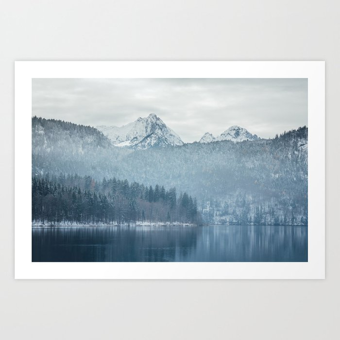 Lake and mountains - Bavarian Alps Art Print