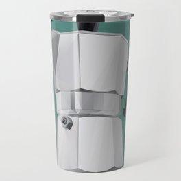 Coffee Moka Pot polygon art Travel Mug