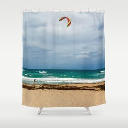 Kitesurfer, Jupiter Beach Shower Curtain
