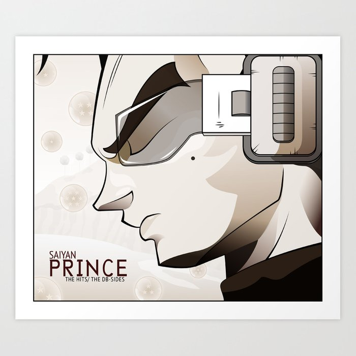 Saiyan Prince - The Hits/The DB Sides Art Print