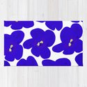 Blue Retro Flowers #decor #society6 #buyart by pivivikstrm