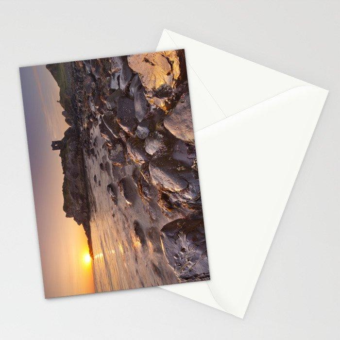 Sunrise at Kinbane Castle in Northern Ireland Stationery Cards