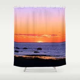 Stunning Seaside Sunset Shower Curtain