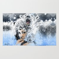 arctic monkeys Area & Throw Rugs featuring Arctic Tears by Fresh Doodle - JP Valderrama