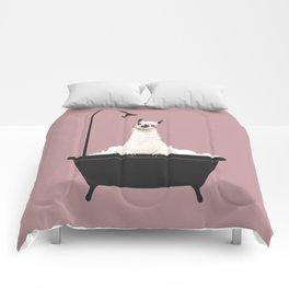 Llama in Bathtub Comforters