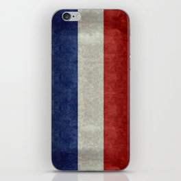 Flag of France, vintage retro style iPhone Skin