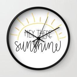 Hey There Sunshine Wall Clock