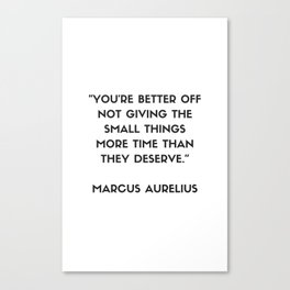 MARCUS AURELIUS  Stoic Philosophy Quote Canvas Print