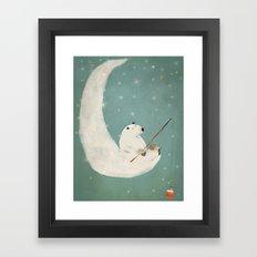 catch a falling star Framed Art Print