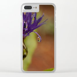 Early Morning Rain Drop Clear iPhone Case
