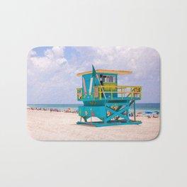 Blue Lifeguard Station Bath Mat