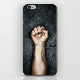 Protest fist iPhone Skin