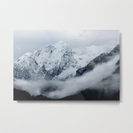 Mountains, clouds and fog Metal Print
