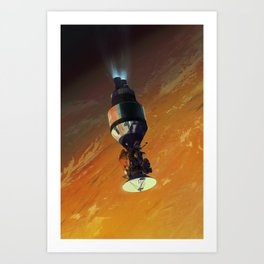 Cassini on Centaur Art Print