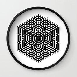 #3 Geometric Hexagon Black And White Wall Clock