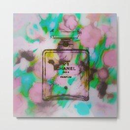 Fashion Icon Floral Remix 2 Metal Print