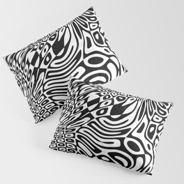 Black  and white psychedelic optical illusion Pillow Sham
