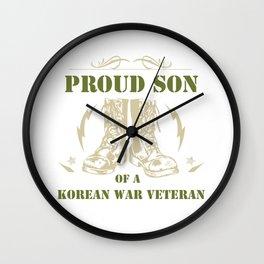 Proud Son Of a Korean War Veteran Wall Clock