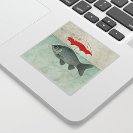 Umbrella Goldfish Sticker
