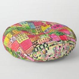 Color Town Floor Pillow