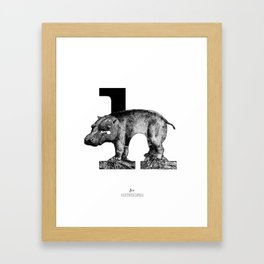letter h for hippo Framed Art Print
