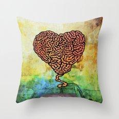 Brainheart Throw Pillow