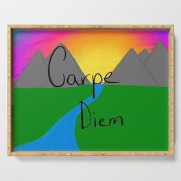Carpe Diem - Sunset Serving Tray
