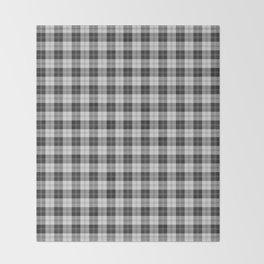 Clan Erskine Tartan // Black & White Throw Blanket