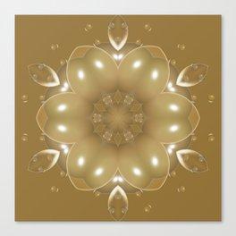 Bubbles in Gold Color Canvas Print