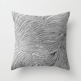 Chrome effect metallic texture Throw Pillow