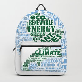 Protect Earth Word Bubble Backpack