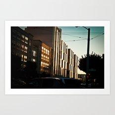 SF Winding Down Art Print