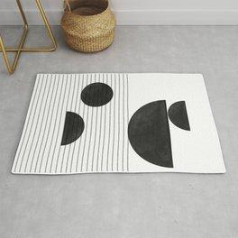 Black and White Balance Rug