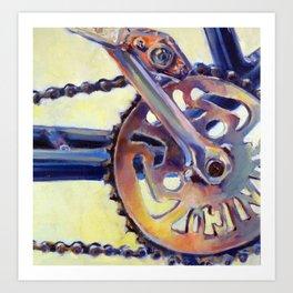 Bicycle Crank Art Print