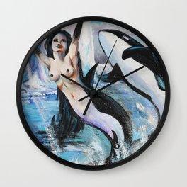 Orca Mermaid Wall Clock