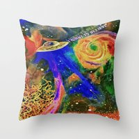 i want to believe Throw Pillows featuring I WANT TO BELIEVE by N3GATIVE CR33P