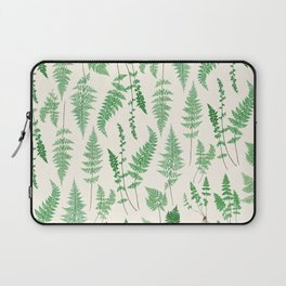 Ferns on Cream I - Botanical Print Laptop Sleeve