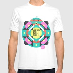 Feel the Beat Mens Fitted Tee White SMALL