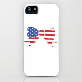 America Bow Graphic Patriotic 'Merica T-shirt iPhone Case
