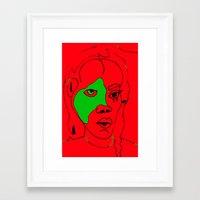 matisse Framed Art Prints featuring matisse by melis basmaci