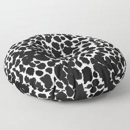 ANIMAL PRINT CHEETAH BLACK AND WHITE#7 2019 Floor Pillow