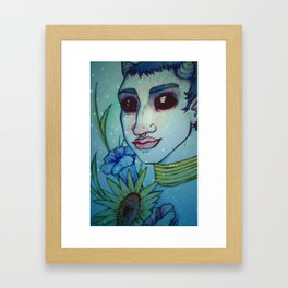 Starry witch. Framed Art Print