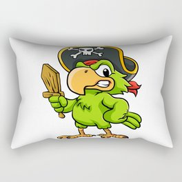 Pirate Parrot Rectangular Pillow