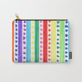 LOVE STRIPES Carry-All Pouch
