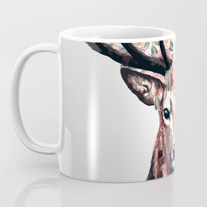 Deer and Flowers Coffee Mug