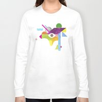 jazzberry Long Sleeve T-shirts featuring Mythical Float Rate. by Nick Nelson
