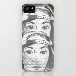 gray girls, seeing double iPhone Case