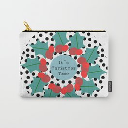 It´s Christmas Time wreath Carry-All Pouch