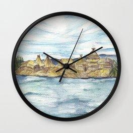 Uros islands Wall Clock
