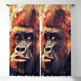 Gorilla animal #gorilla #animals Blackout Curtain
